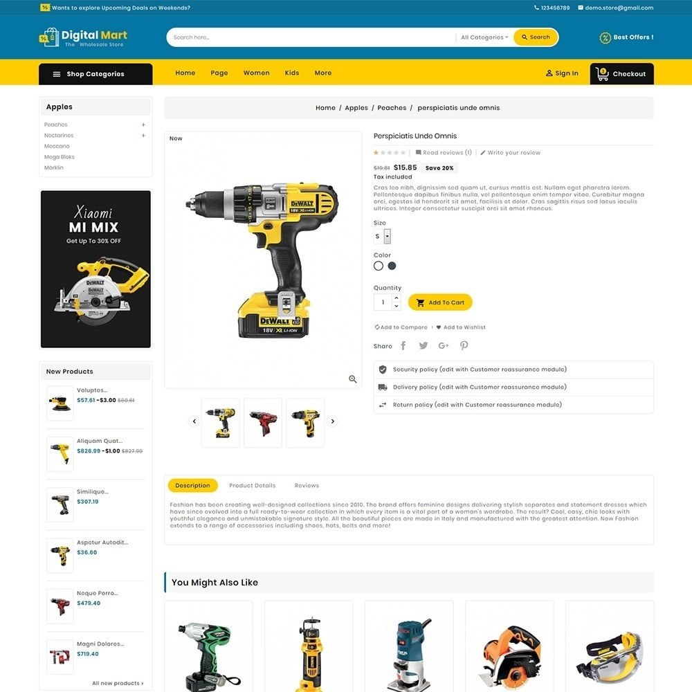 theme - Электроника и компьютеры - Digital Mart Tools Equipment - 7