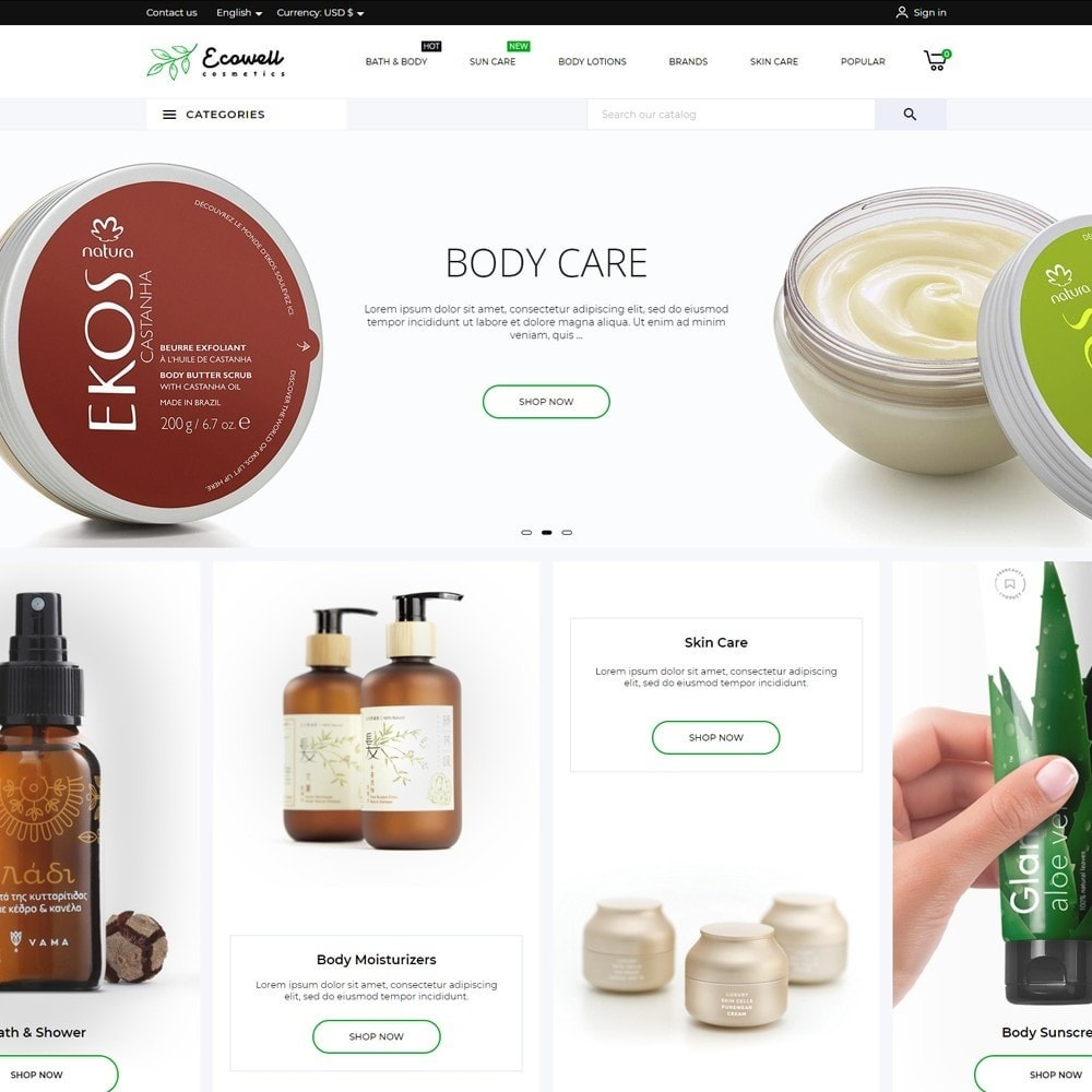 theme - Health & Beauty - Ecowell Cosmetics - 2