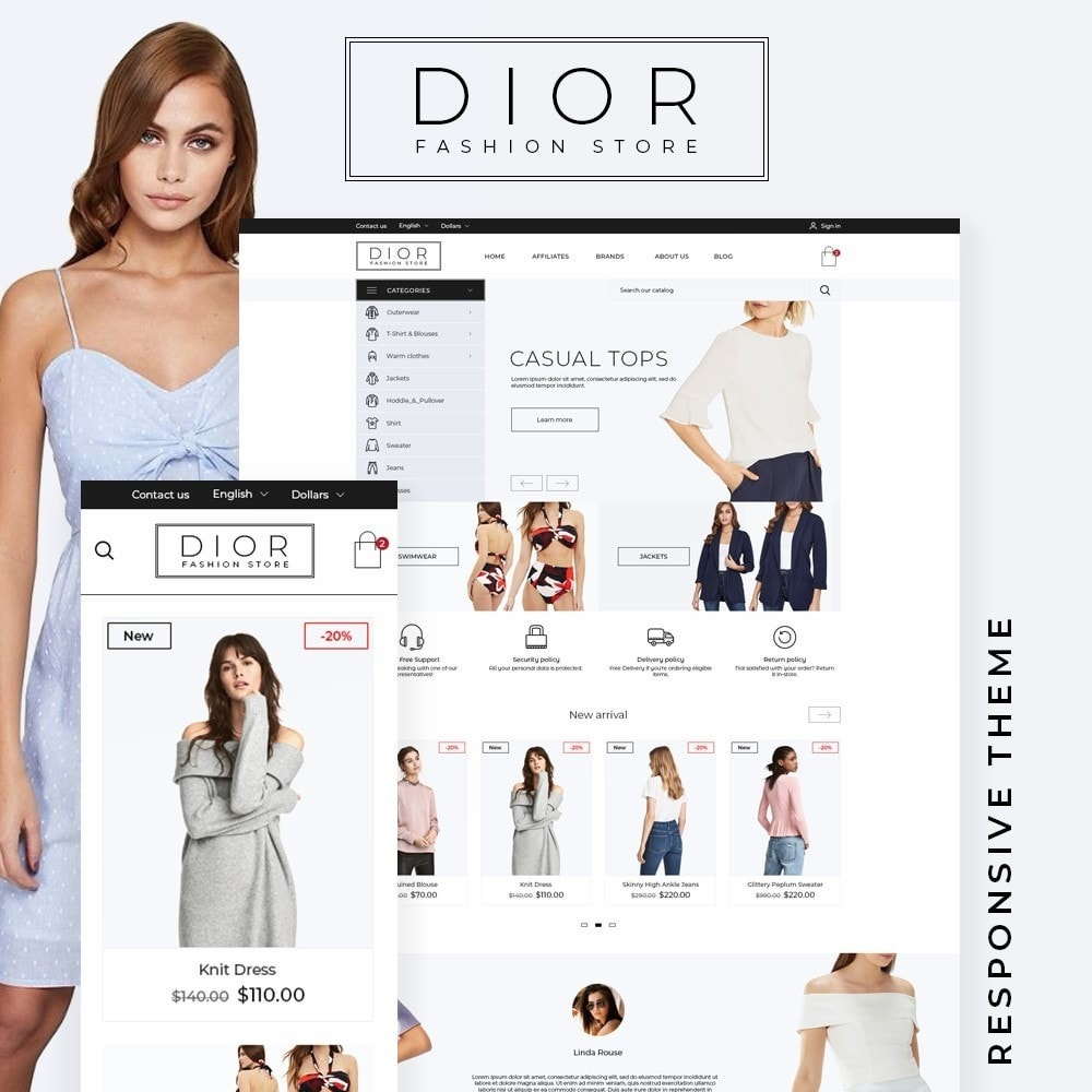 theme - Mode & Chaussures - Dior Fashion Store - 1