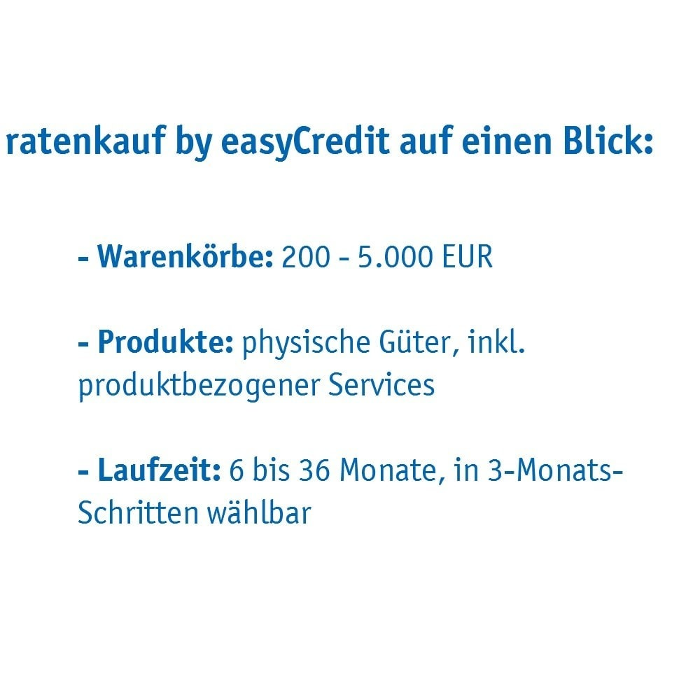 module - Andere Zahlungsmethoden - ratenkauf by easyCredit - 5