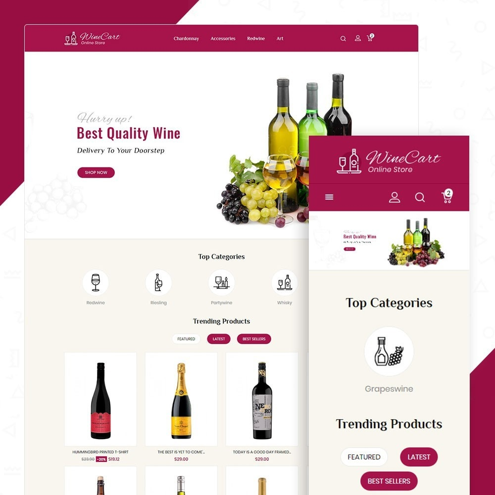 theme - Drink & Tobacco - Winecart - Online Store - 1