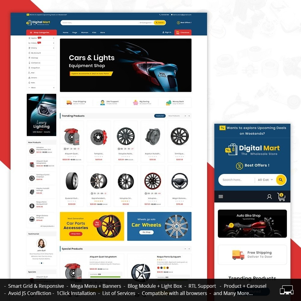 theme - Automotive & Cars - Digital Mart Auto Parts - 1