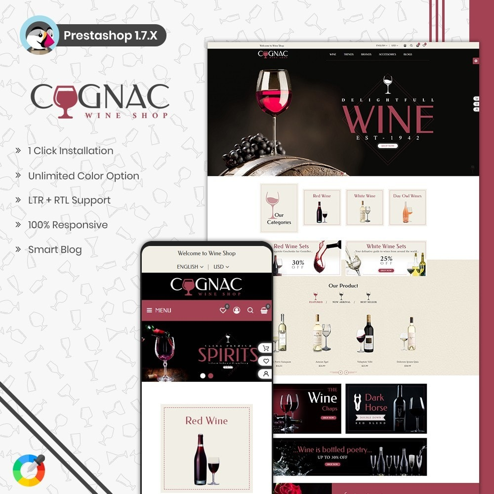 theme - Drink & Wine - Wine Store - 1
