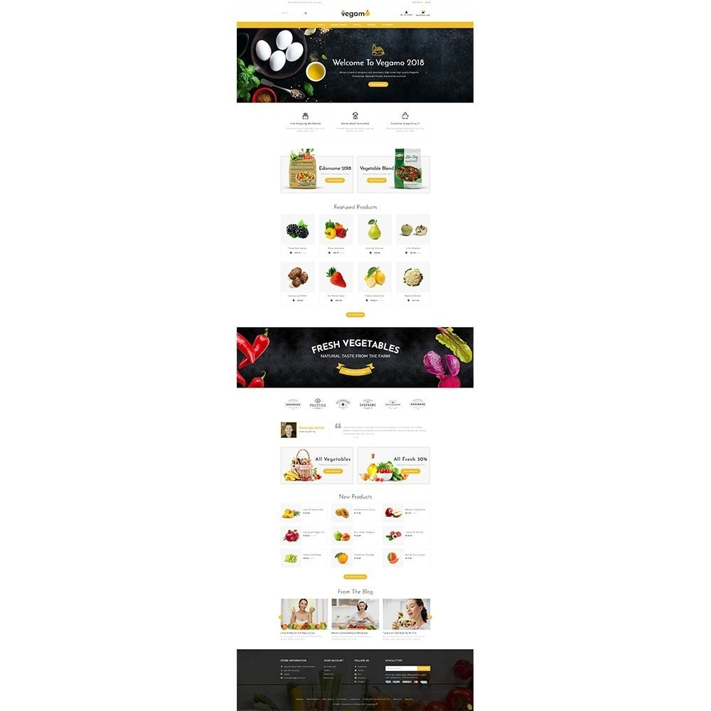theme - Alimentation & Restauration - Vegam Store - 2