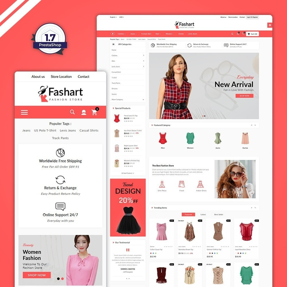 theme - Fashion & Shoes - The Fashart –Fashion Mega Shop - 1