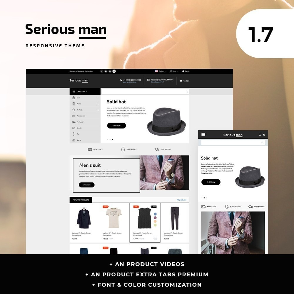 Serious man Men's Wear