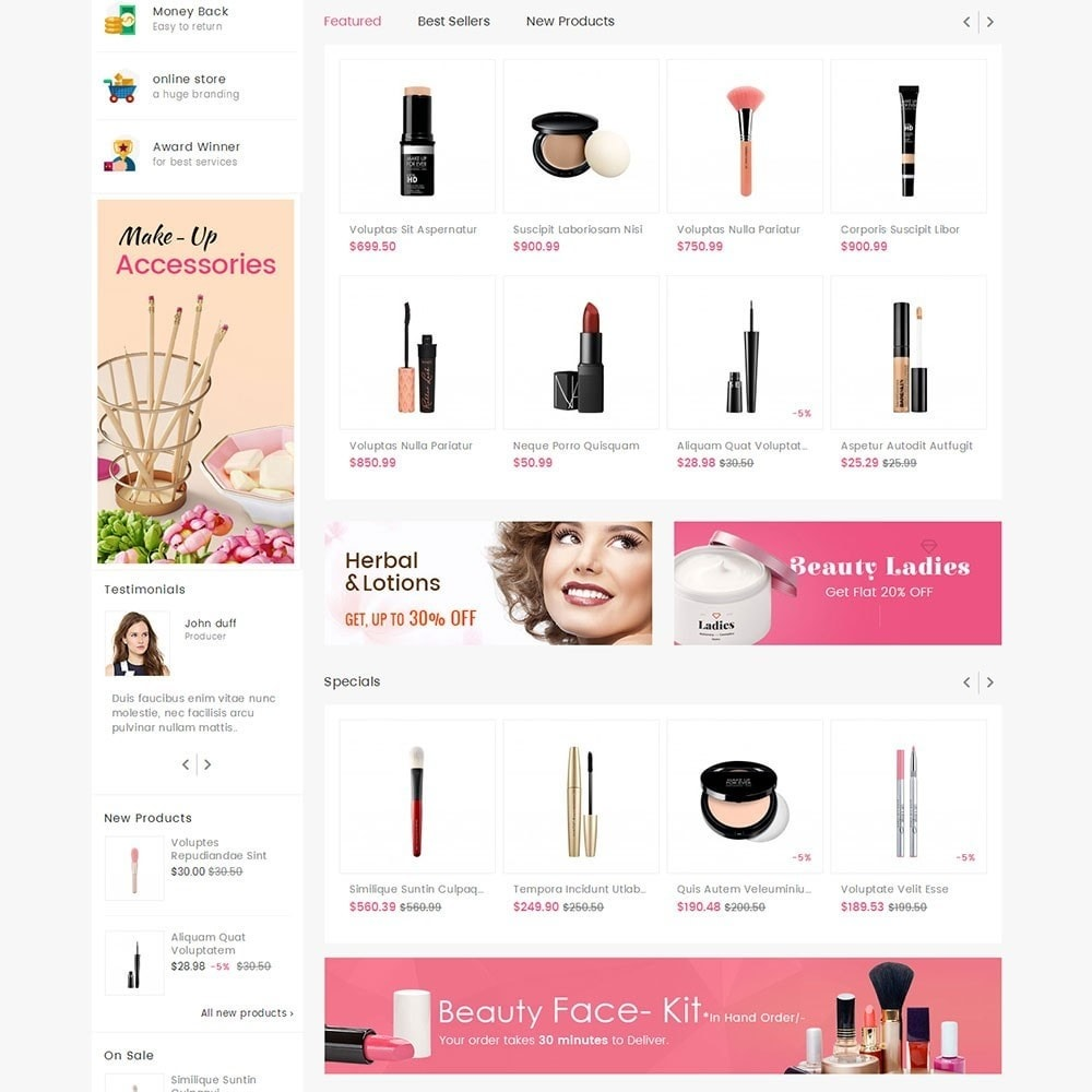 theme - Salute & Bellezza - Mega Cosmetics - 3
