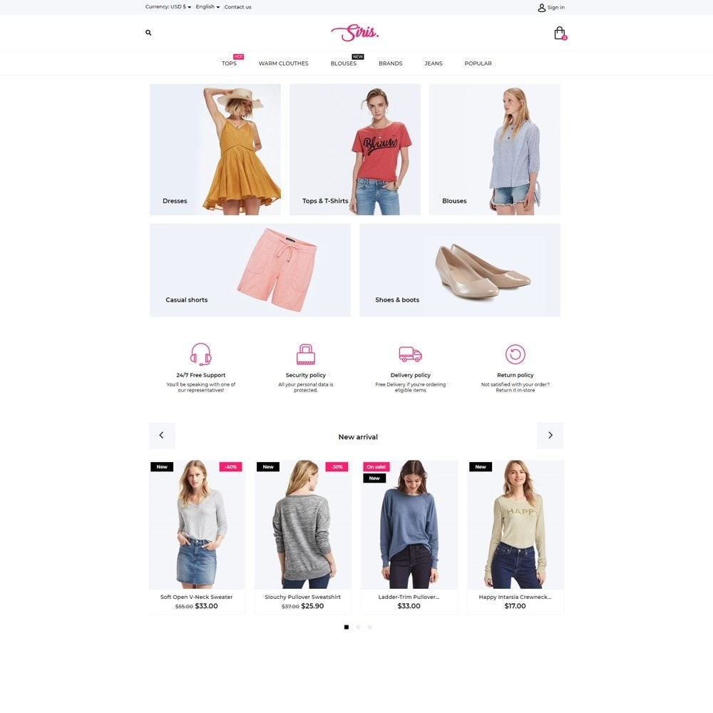 theme - Fashion & Shoes - Siris Fashion Store - 2