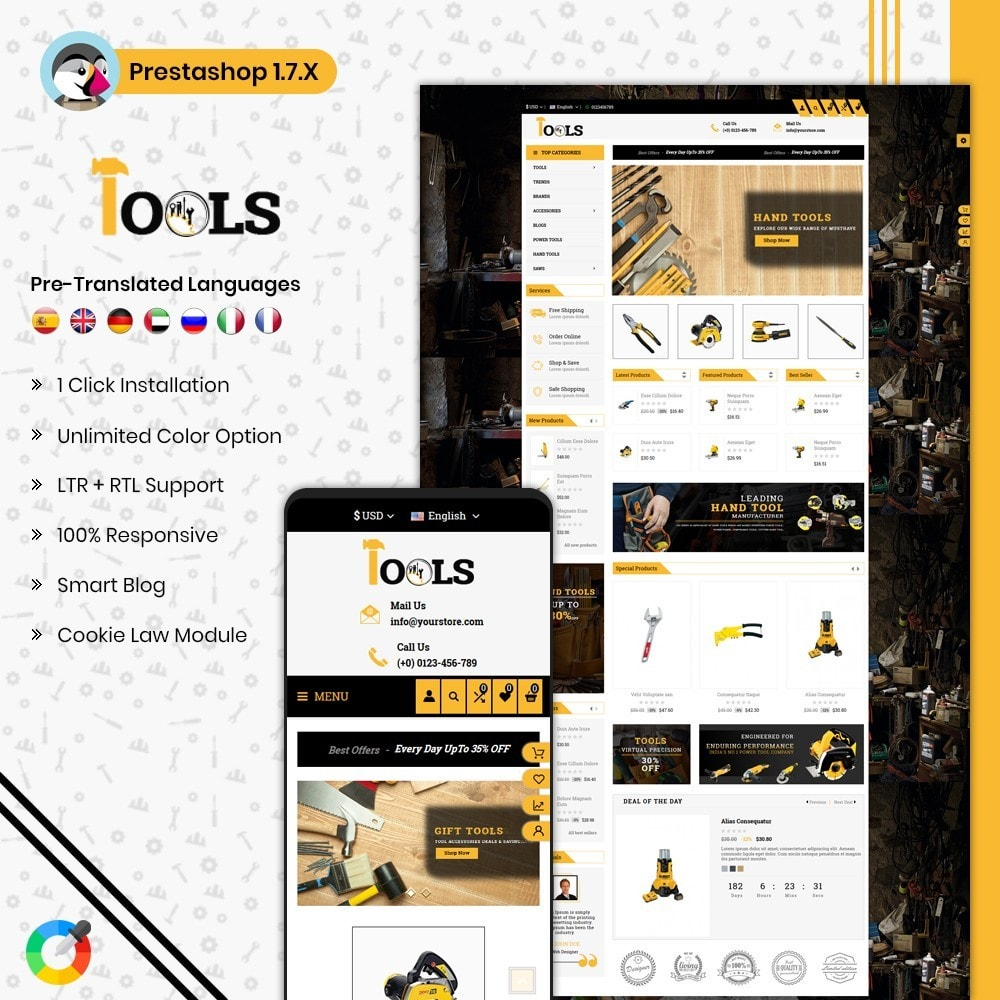 theme - Carros & Motos - Tools Shop - 1