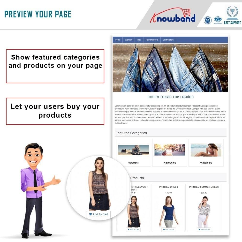 module - Prodotti sui Facebook & Social Network - Knowband - Social Shop Integrator - 1