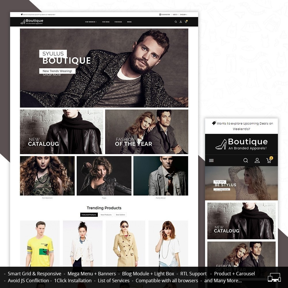 theme - Moda & Calzature - Boutique Fashion Light - 1