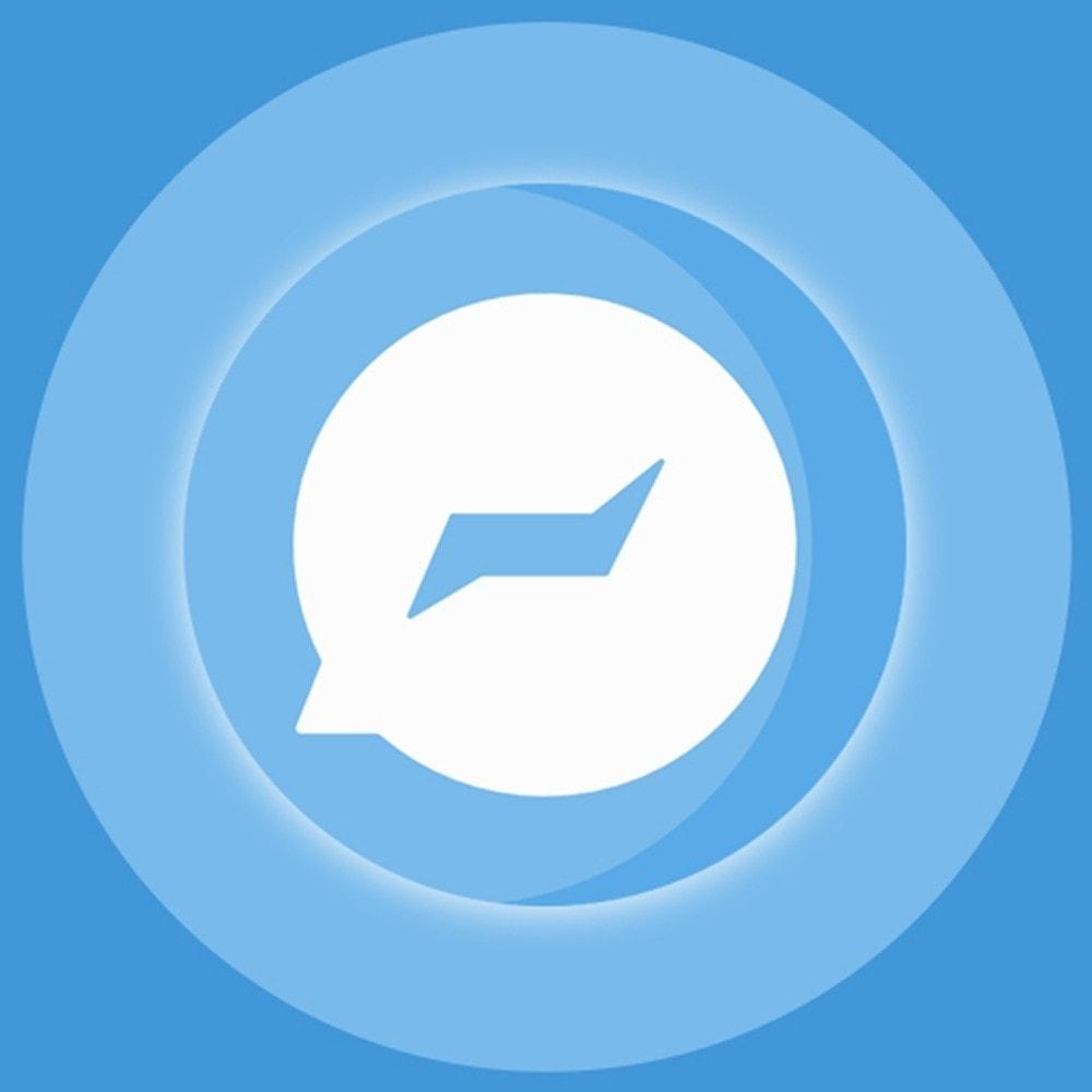 module - Поддержка и онлайн-чат - Knowband- Social Messenger, Live Chat Support - 1