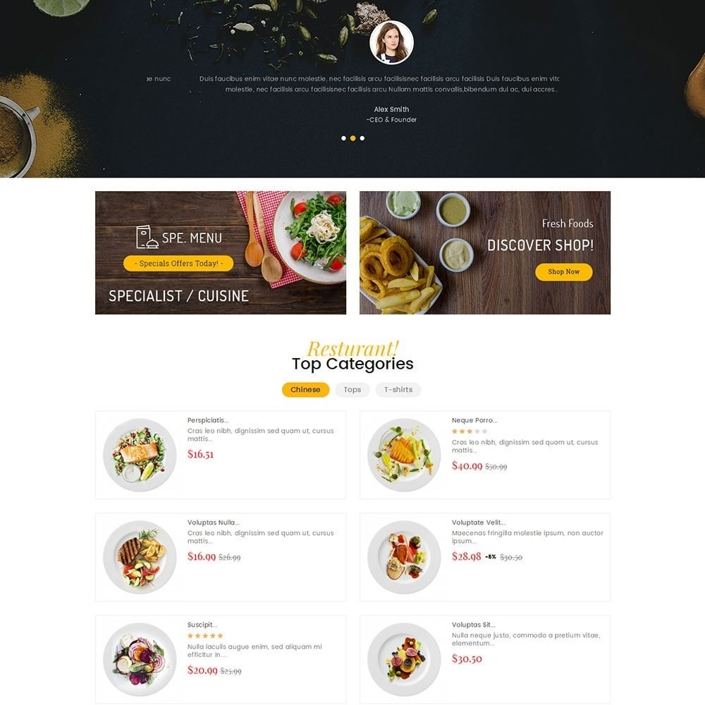 theme - Eten & Restaurant - Gusto Food - 4