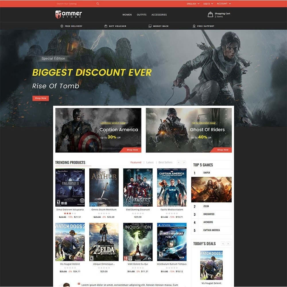 Gammer Online Store