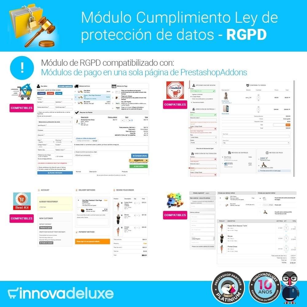 module - Marco Legal (Ley Europea) - Cumplimiento Ley de protección de datos - RGPD - 18
