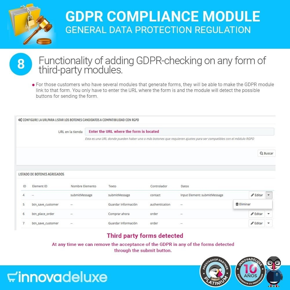 module - Legal - Data privacy extended (data protection law) - GDPR - 15