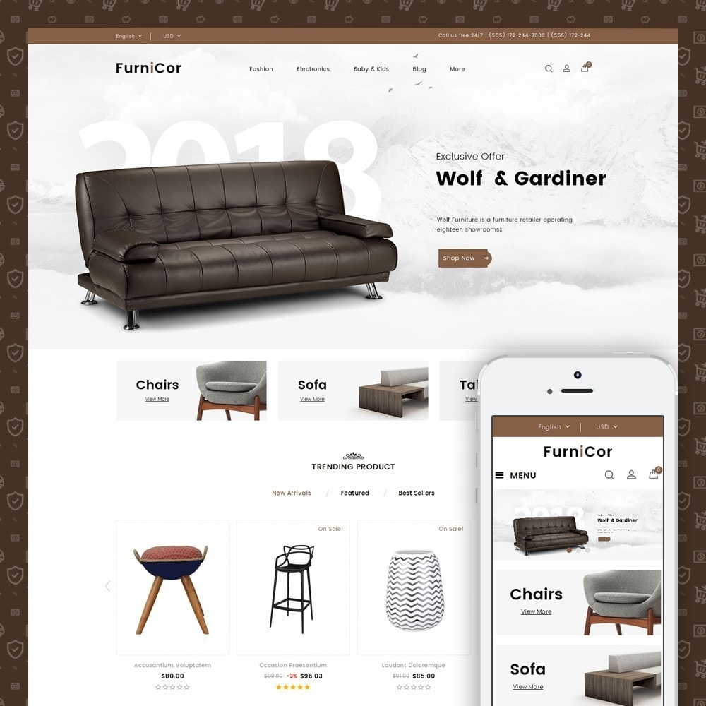 theme - Home & Garden - Furnicor - Furniture Store - 1