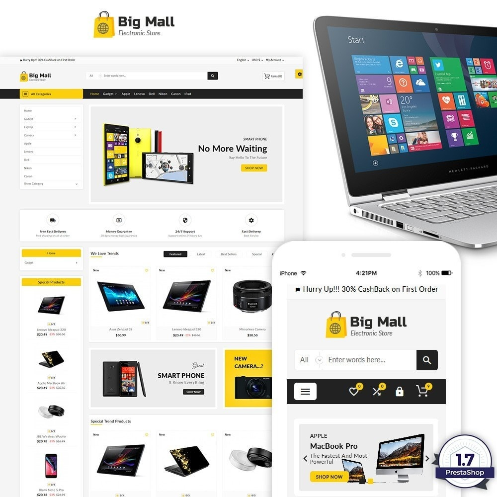 theme - Electronics & Computers - Big Mall – The Electronic Shop - 1