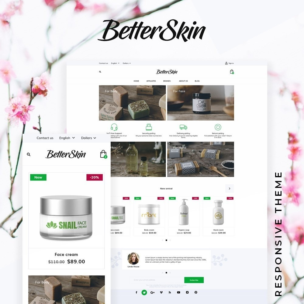 theme - Health & Beauty - BetterSkin Cosmetics - 1