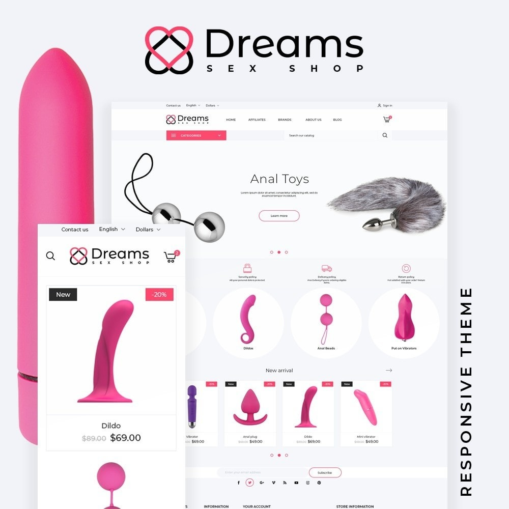 theme - Lenceria y Adultos - Dreams - Sex Shop - 1