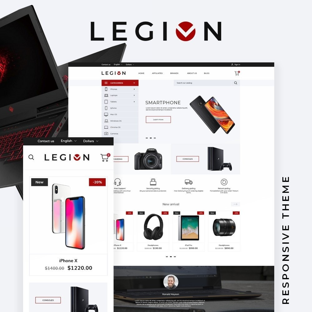 theme - Electronics & Computers - Legion - High-tech Shop - 1