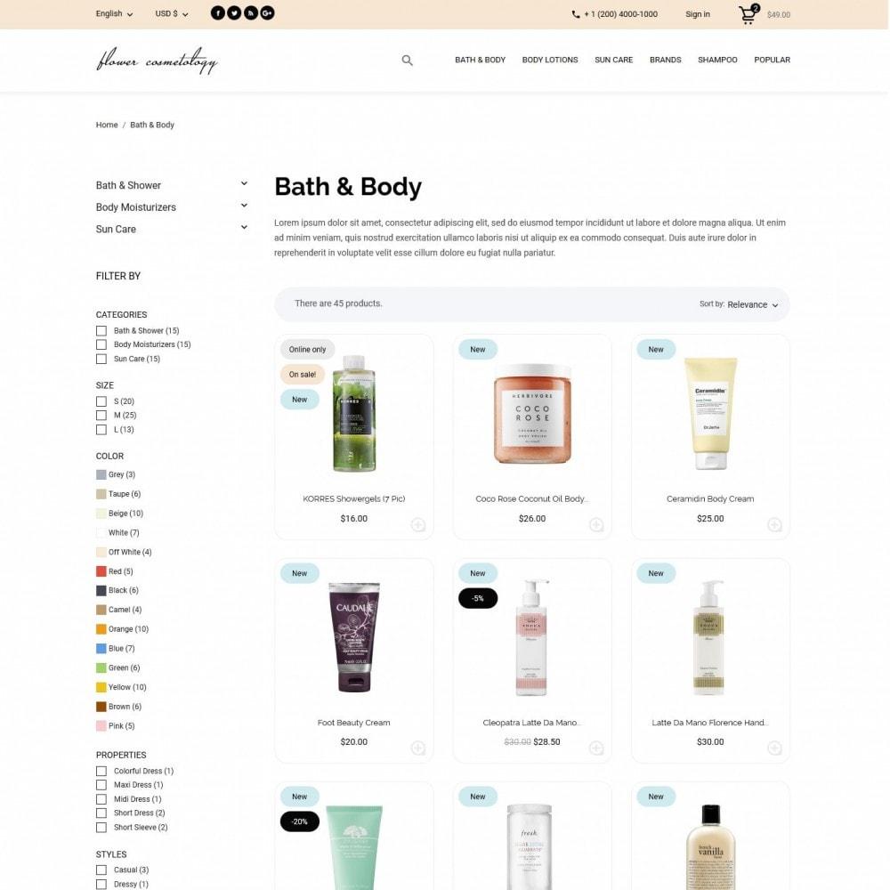 theme - Health & Beauty - FlowerCosmetology Cosmetics - 5