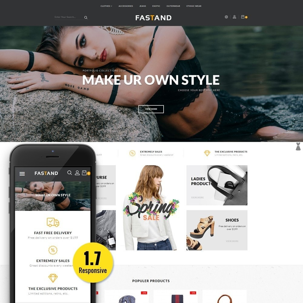 theme - Fashion & Shoes - Fastand Fashion Store - 1