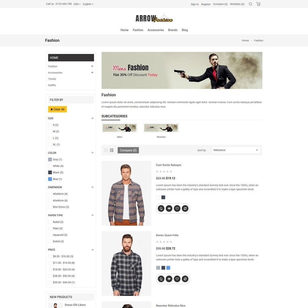 theme - Мода и обувь - Arrow Fashion V2 Store - 4