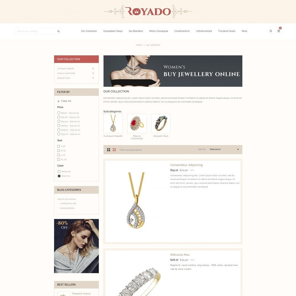 theme - Jewelry & Accessories - Royado - The Beauty Shop - 5