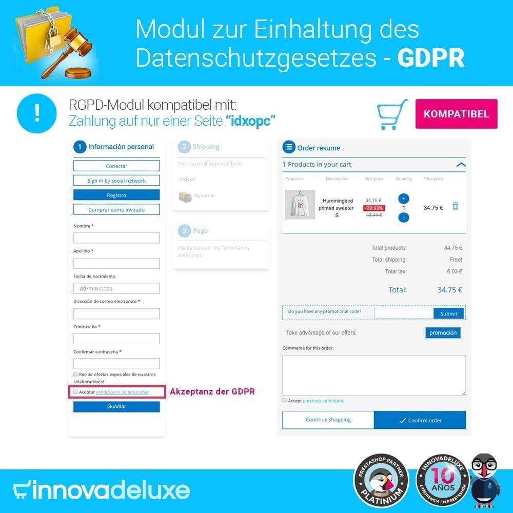 module - Rechtssicherheit - Einhaltung der Datenschutzgesetze - GDPR - 16