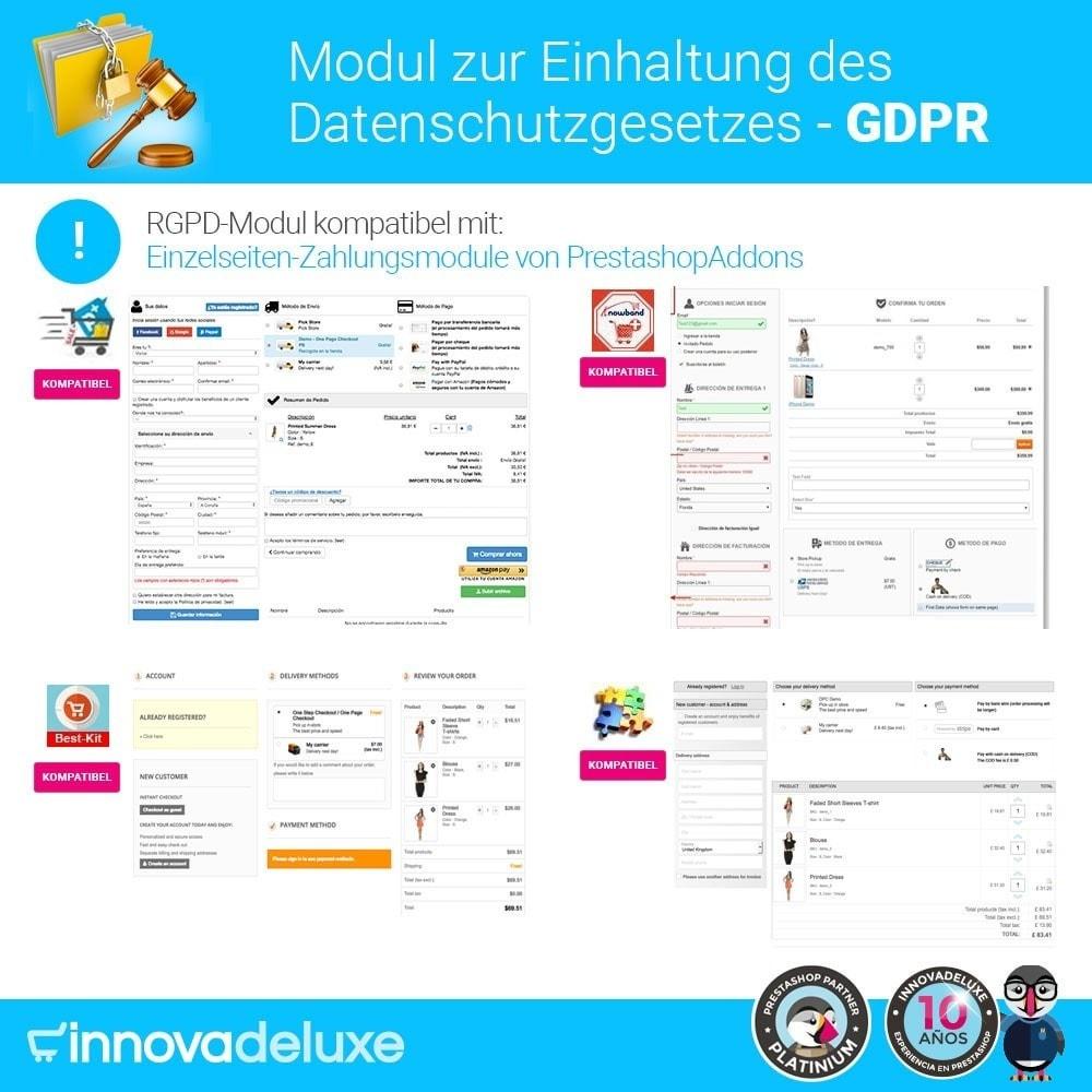 module - Rechtssicherheit - Einhaltung der Datenschutzgesetze - GDPR - 18