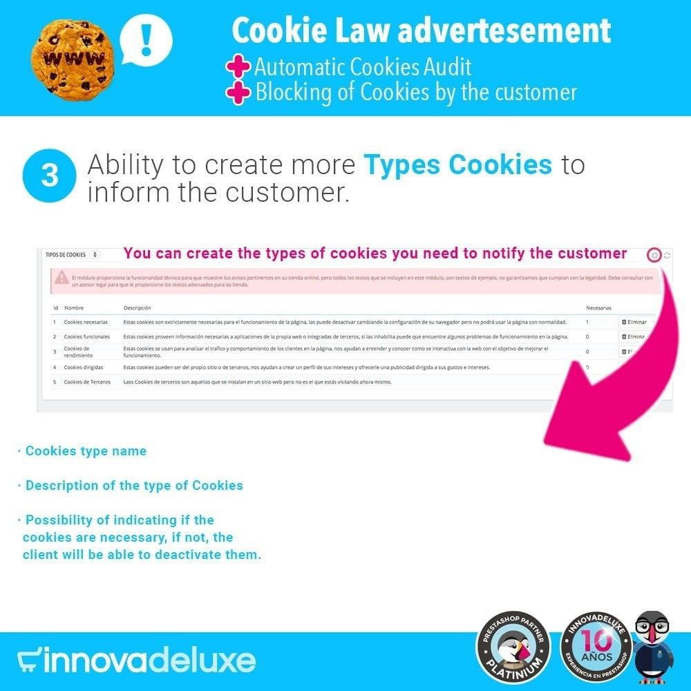 module - Wzmianki prawne - GDPR Cookies Law (Advice - Audit - Blocking) - 5