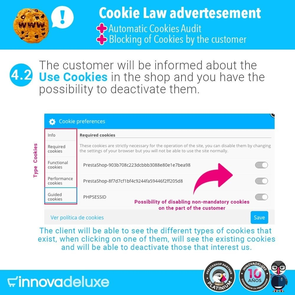 module - Администрация - GDPR Cookies Law (Advice - Audit - Blocking) - 7