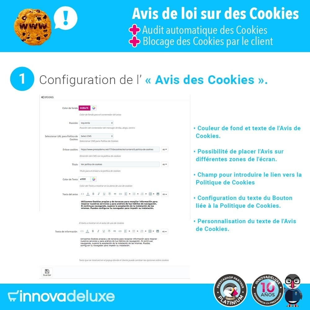 module - Législation - Loi des Cookies RGPD (Avi - Audit - Blocage) - 2