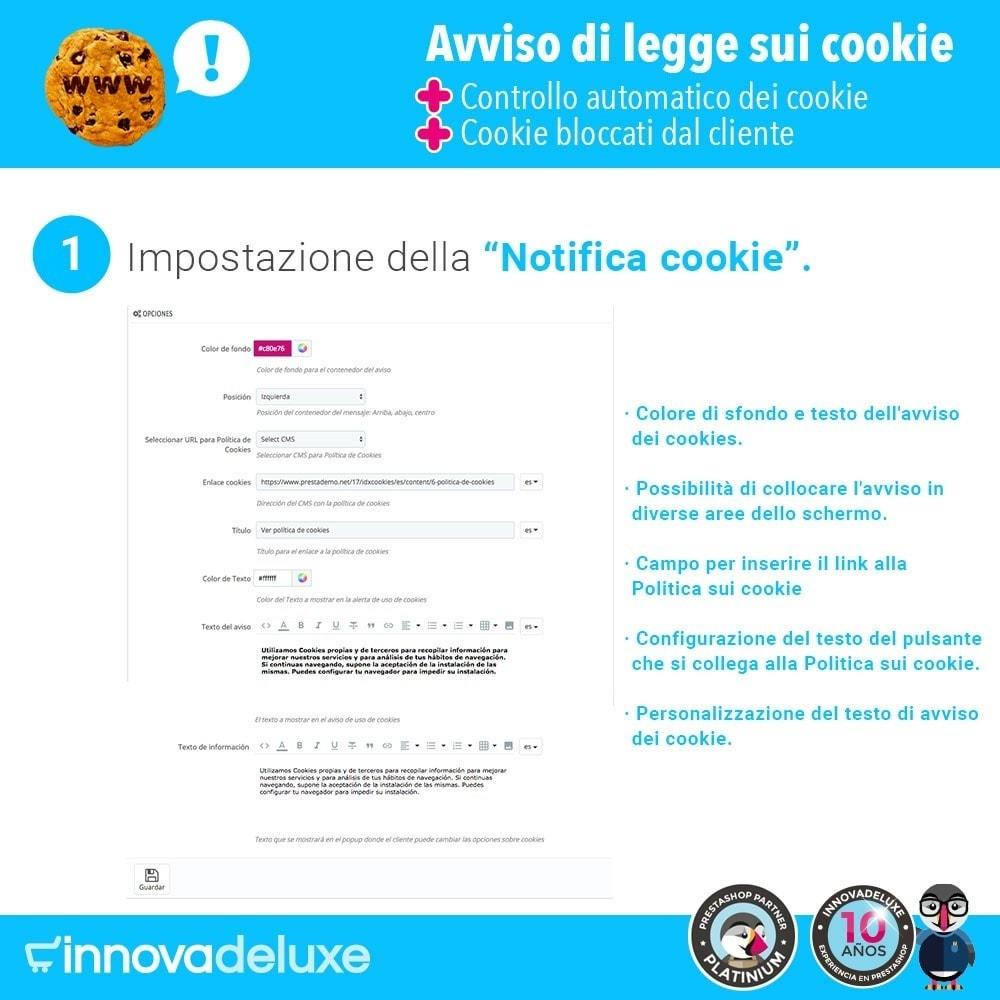 module - Legale (Legge Europea) - Legge sui cookie RGPD (Avviso - Controllo - Blocco) - 2