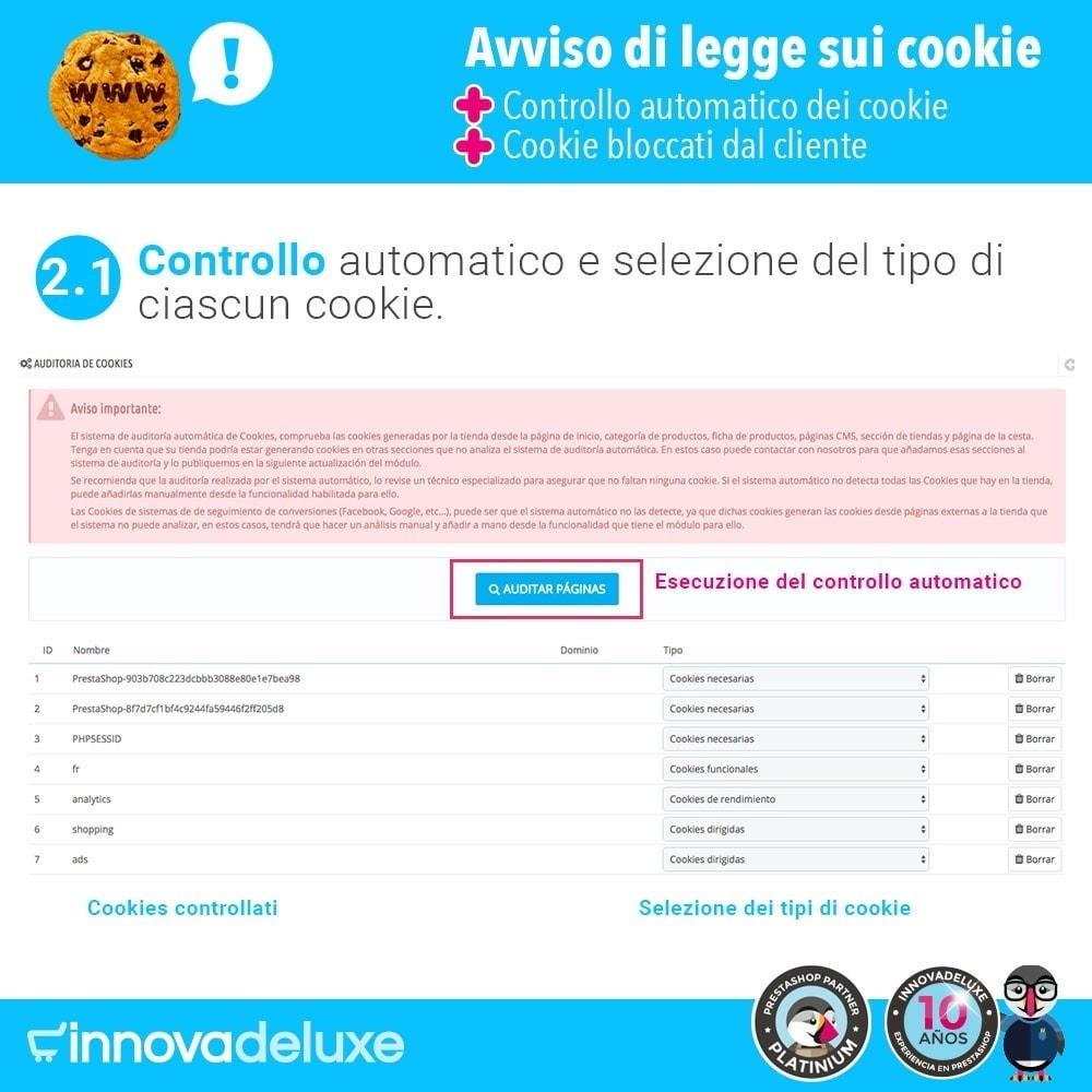 module - Legale (Legge Europea) - Legge sui cookie RGPD (Avviso - Controllo - Blocco) - 3