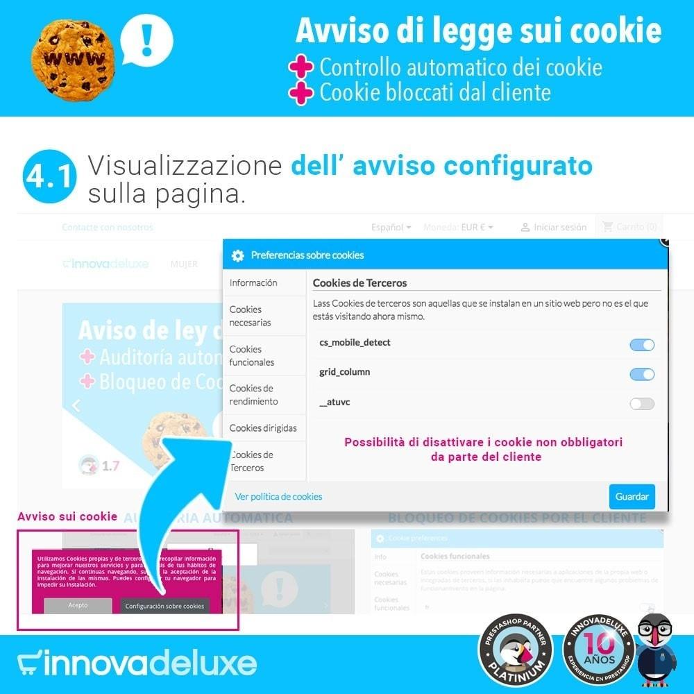 module - Legale (Legge Europea) - Legge sui cookie RGPD (Avviso - Controllo - Blocco) - 6