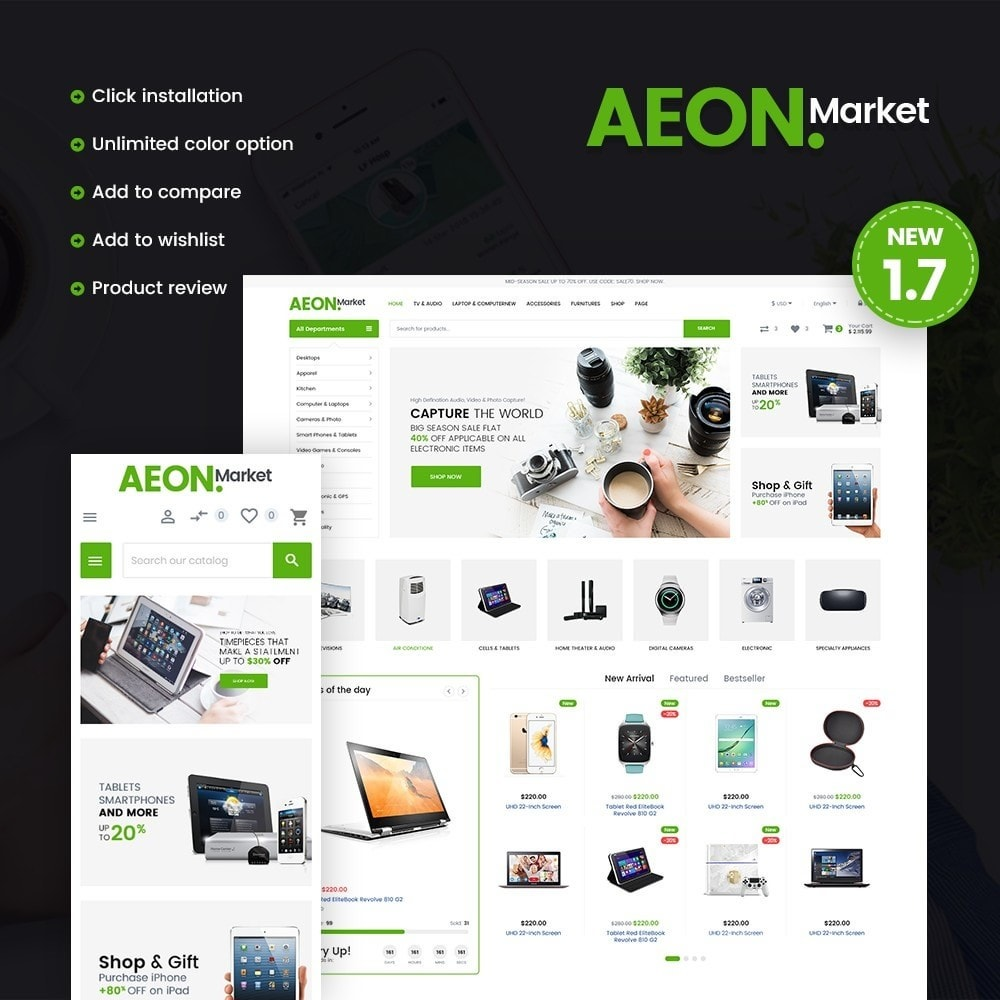 theme - Elektronika & High Tech - AeonMarket Store - 1