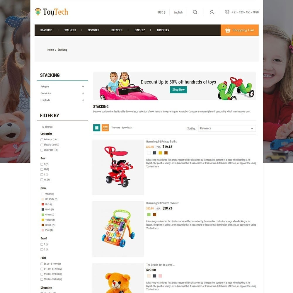 theme - Kids & Toys - Toytech Toy Store - 4