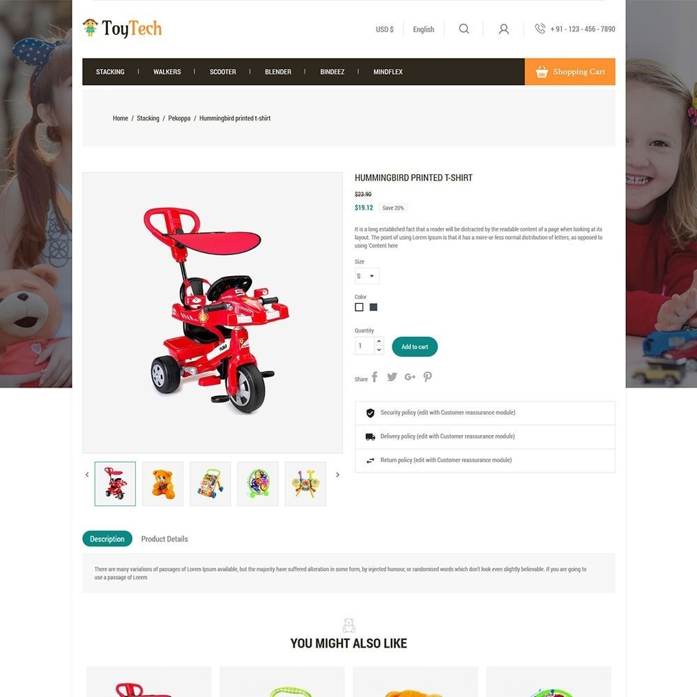 theme - Kids & Toys - Toytech Toy Store - 5