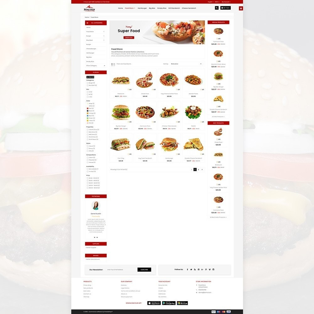 theme - Alimentation & Restauration - Tasty Fast – The Food and Drink Shop - 5