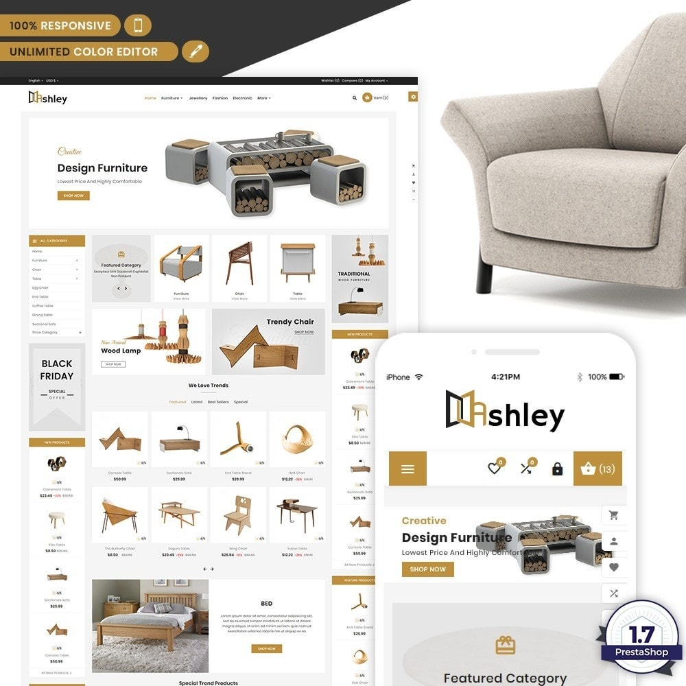 Ashley – Modern Furniture Shop