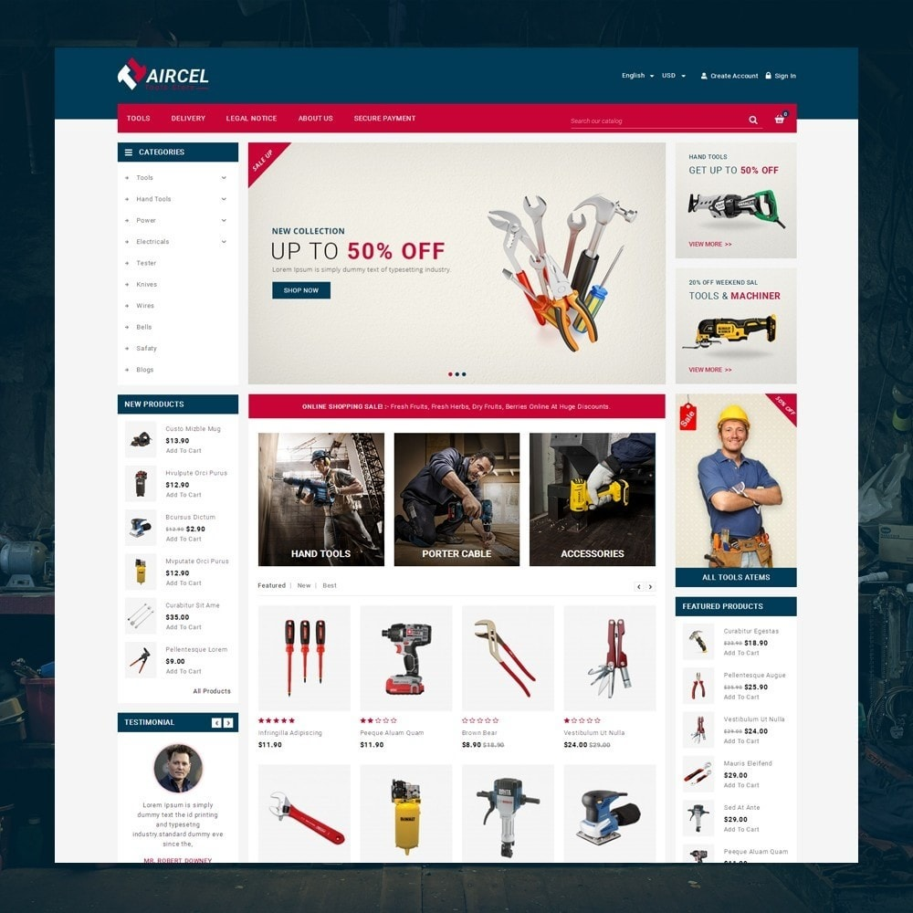 theme - Sports, Activities & Travel - Aircel - Tools Shop - 2