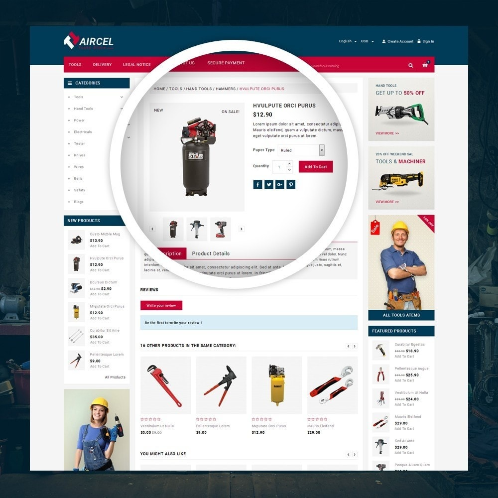 theme - Sports, Activities & Travel - Aircel - Tools Shop - 4
