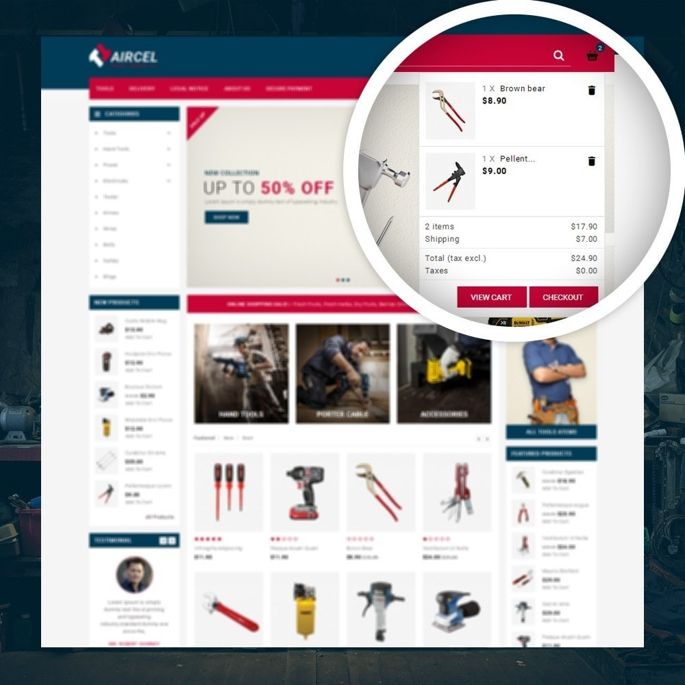 theme - Sports, Activities & Travel - Aircel - Tools Shop - 6