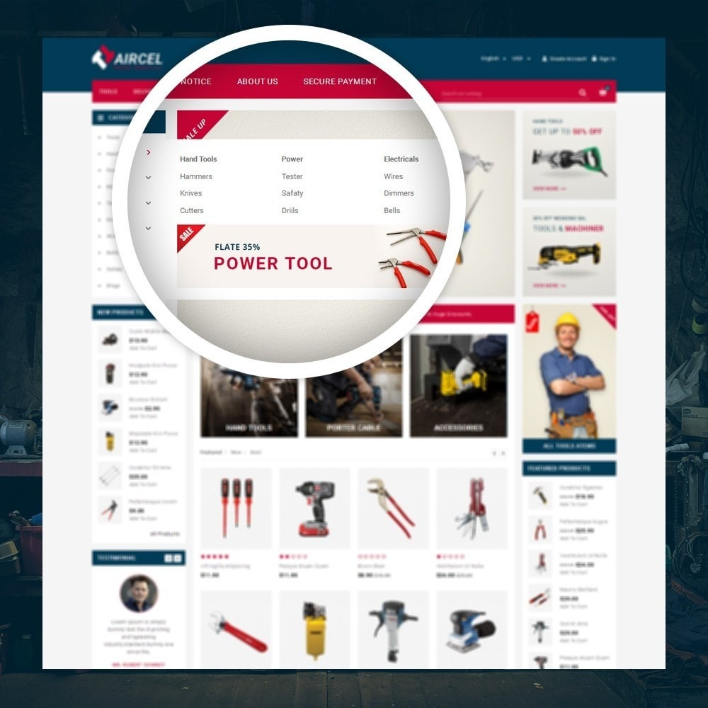 theme - Sports, Activities & Travel - Aircel - Tools Shop - 7