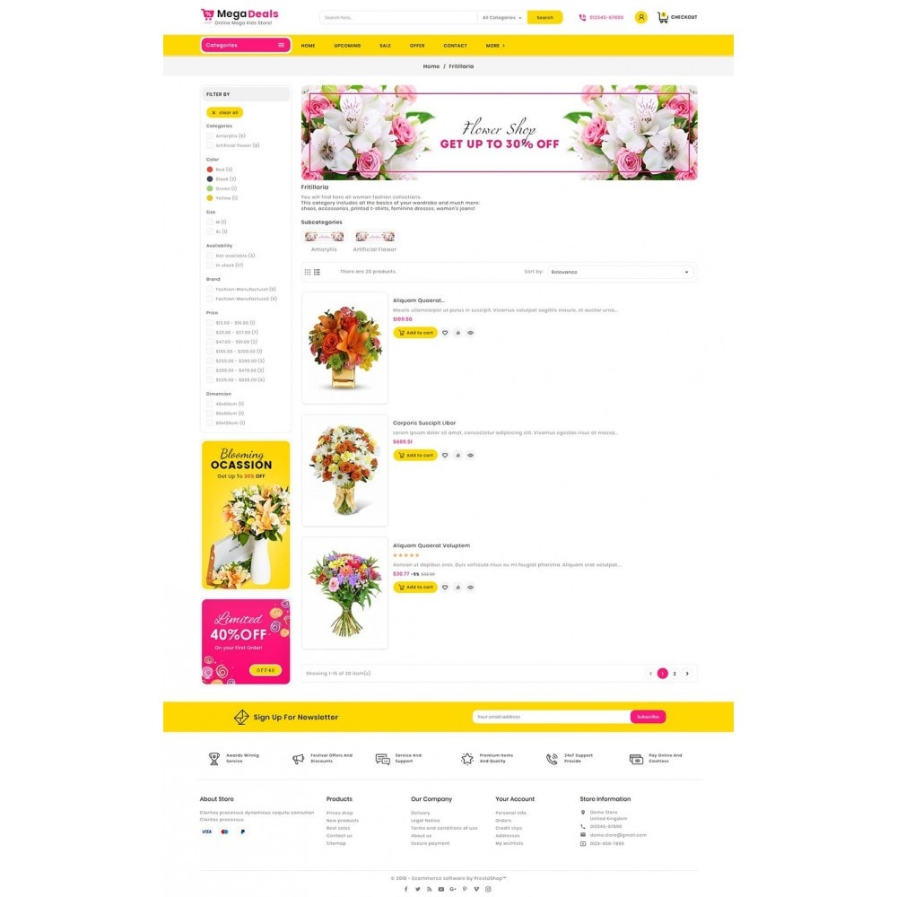 theme - Gifts, Flowers & Celebrations - Mega Deals Flower Art - 5