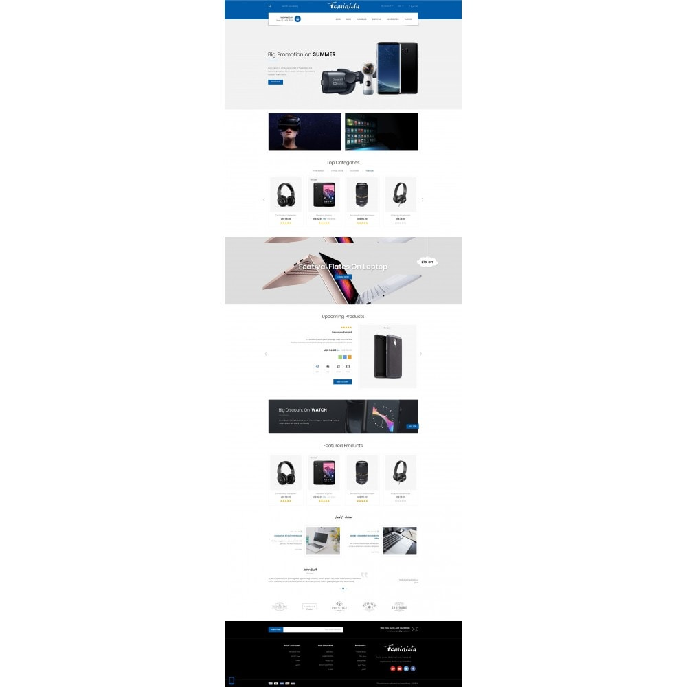 theme - Elektronika & High Tech - Feminista - Digital Store - 10