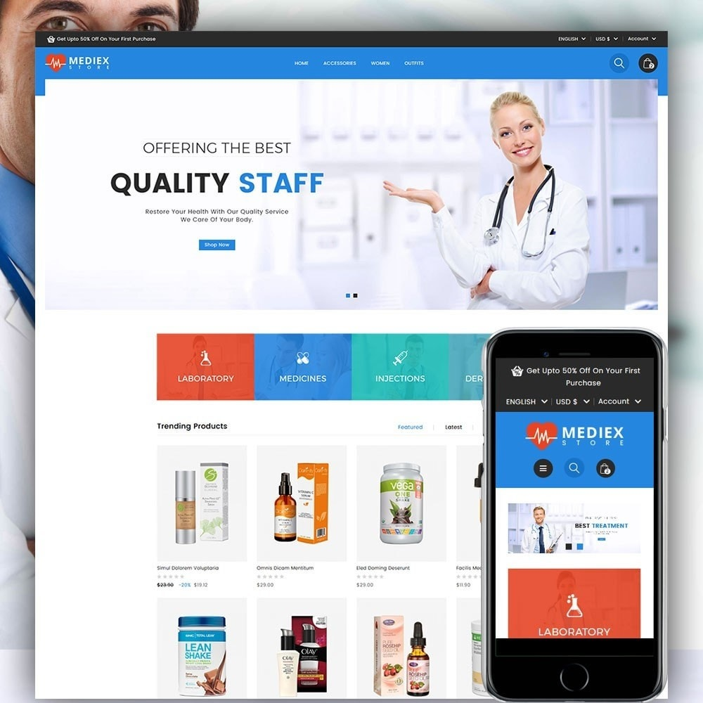 theme - Salute & Bellezza - Mediex Health and Medical Store - 1