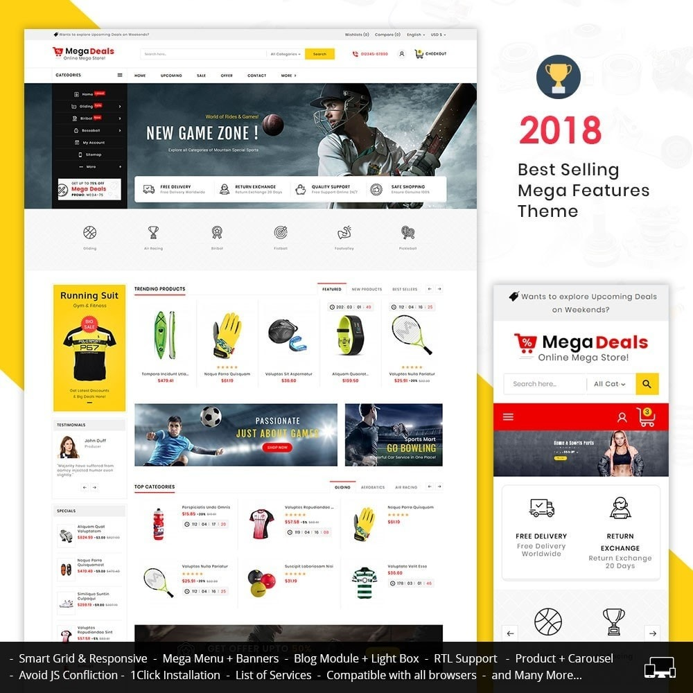theme - Sport, Aktivitäten & Reise - Mega Sport Deals - 1